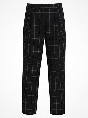 Warehouse WINDOW PANE PEG LEG TROUSERS Tygbyxor black svarta rutiga