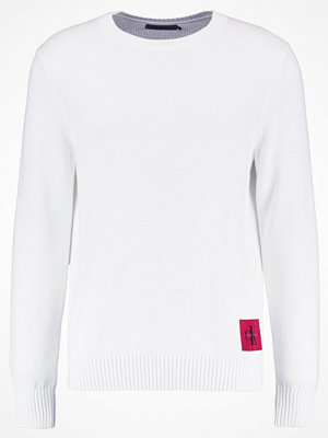 Calvin Klein Jeans SENET REGULAR FIT Stickad tröja bright white
