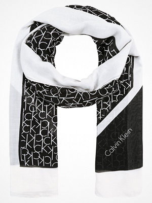 Calvin Klein ALLOVER SCARF Halsduk black