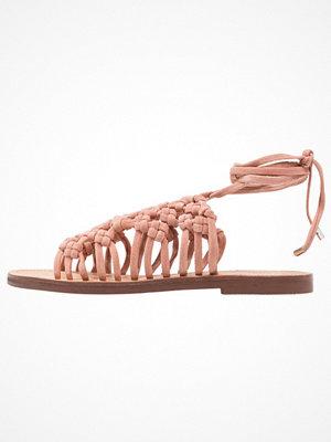 Topshop FRIDAY LACE UP Sandaler & sandaletter nude