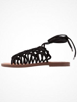 Topshop FRIDAY LACE UP Sandaler & sandaletter black