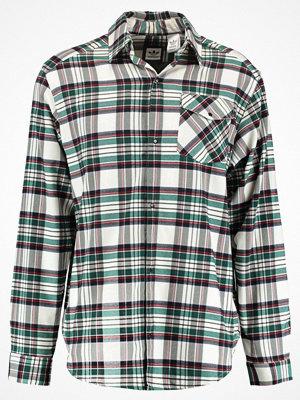 Skjortor - Adidas Originals TARTAN Skjorta offwhite/black/green/