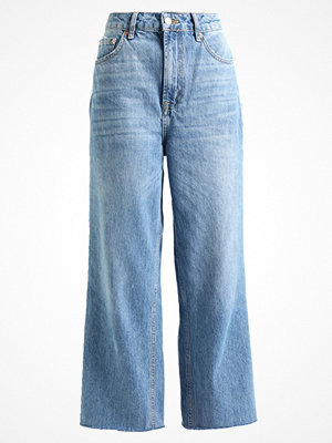 Topshop CROP  Flared jeans blue denim