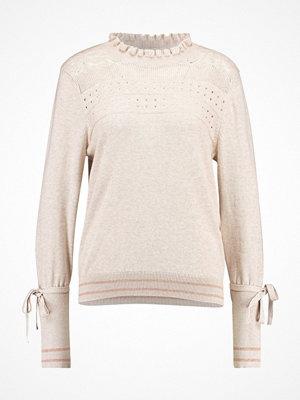 Cream ISA  Stickad tröja oak melange