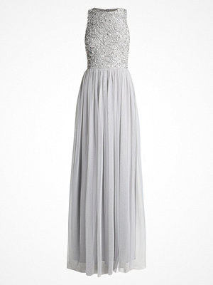 Lace & Beads Tall PICASSO LEAF MAXI Festklänning grey