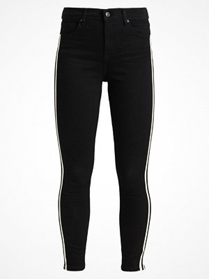 Topshop JAMIE SIDE STRIPE Jeans Skinny Fit black