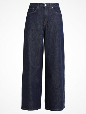 Topshop WIDE LEG Flared jeans dark blue