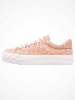 Dorothy Perkins GLITTER PLATFORM Sneakers blush