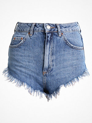 Topshop FRAY HEM KIRI  Jeansshorts blue