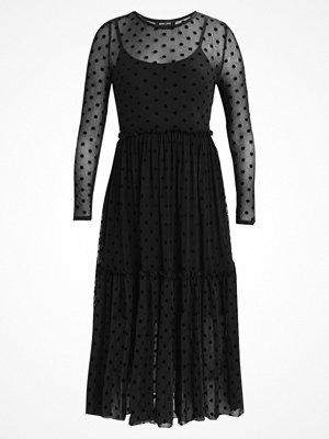 New Look SPOT WAISTED DRESS Sommarklänning black