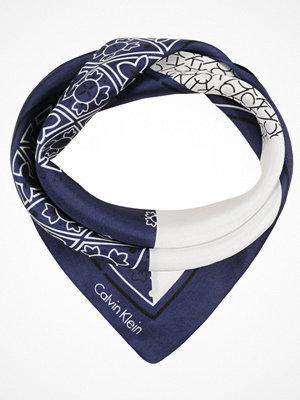 Calvin Klein LOGO MIX BANDANA Scarf blue