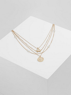 Topshop COIN THIN CHAIN  Halsband goldcoloured
