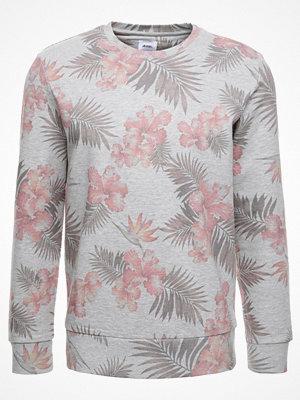 Burton Menswear London FLORAL CREW Sweatshirt gry