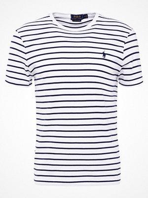Polo Ralph Lauren SLIM FIT Tshirt med tryck white/newport nav