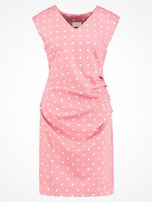 Kaffe INDIA VNECK DRESS DOTS Jerseyklänning bright rose