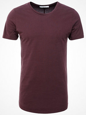 Jack & Jones JJPRHUGO TEE CREW NECK  Tshirt bas dark red