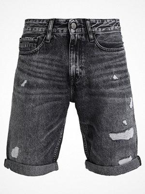 Calvin Klein Jeans SLIM SHORTSJ DIVISION BLACK DSTR RGD Jeansshorts black denim