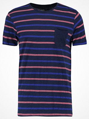 Tom Tailor Denim STRIPED TEE CREWNECK Tshirt med tryck true dark blue