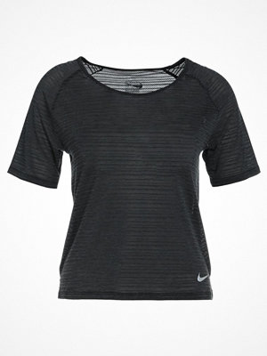 Nike Performance MILER Tshirt bas black/heather