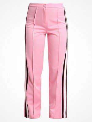 Topshop BUTTON TRACK PANT Tygbyxor pink