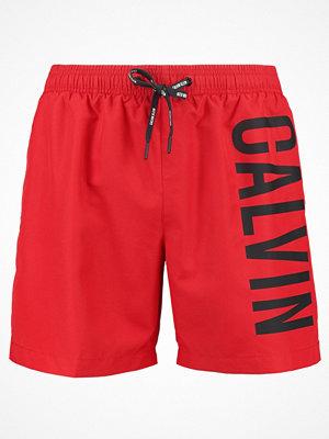 Badkläder - Calvin Klein Swimwear MEDIUM DRAWSTRING Surfshorts salsa