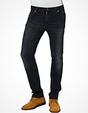 Jeans - Nudie Jeans THIN FINN - Jeans slim fit - Svart