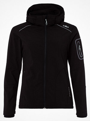CMP WOMEN JACKET ZIP HOOD Softshelljacka nero