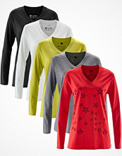bpc bonprix collection V-ringad longshirt (5-pack), långärmad