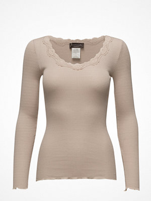 Rosemunde Silk T-Shirt Regular Ls W/Rev Vintage Lace