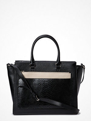 Decadent svart axelväska Working Bag With Clutch And Strap