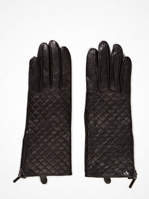 MJM Mjm Glove Lucille Quilted Sheepskin Black