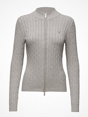 Gant Stretch Cotton Cable Zip Cardigan