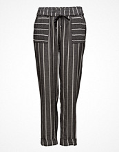 Violeta by Mango Striped Cotton Trousers
