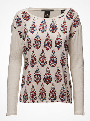 Scotch & Soda Long Sleeve Linen Tee With Photoprinted