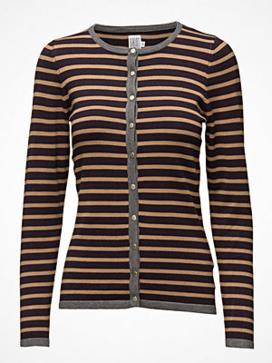 Saint Tropez Knit Cardigan With Stripes