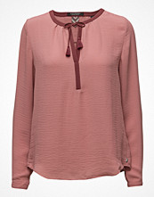 Blusar - Maison Scotch Silky Feel Blouse With Contrast Neckline
