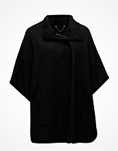 Violeta by Mango Trimmed Wool-Blend Cape