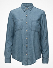 Mango Linen-Blend Denim Shirt