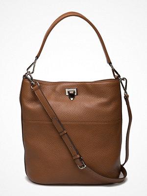 Decadent omönstrad axelväska Big Bucket Bag W/Buckle