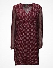 Maison Scotch Silky Feel V-Neck Dress With Sheer Sleeves