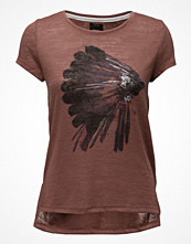 Only Onlgloria S/S Feathers Top Ess