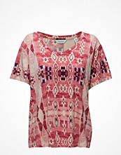 Maison Scotch Loose Fit Tee With Various Allover Prints.
