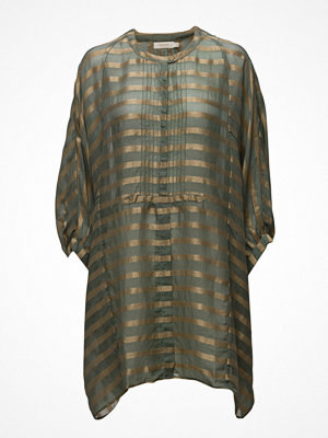 Tunikor - Rabens Saloner Metallic Stripe Shirt Dress