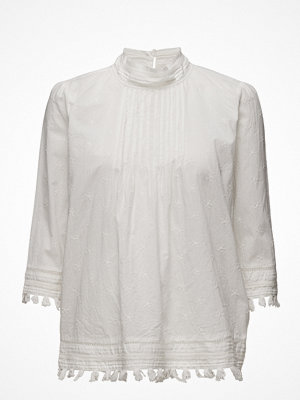 Scotch & Soda 3/4 Sleeve Woven Top With Embroidered Star Allover