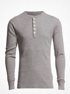 T-shirts - Knowledge Cotton Apparel Rib Knit Henley Gots