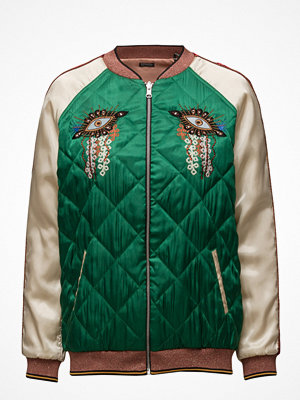 Scotch & Soda omönstrad bomberjacka Reversible Relaxed Fit Bomber Jacket With Embroideries