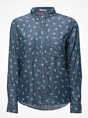 Tommy Jeans Thdw Denim Print Shirt L/S 30b
