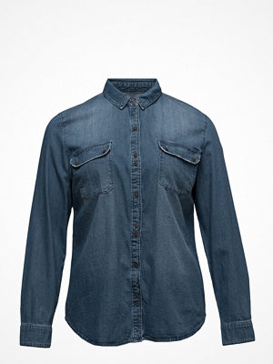 Violeta by Mango Dark Wash Denim Shirt