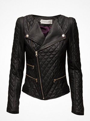 By Malina Jade Quilted Leather Jacket