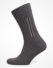 Strumpor - Topeco Mens Sock Side Stripe, Dk Grey Melange